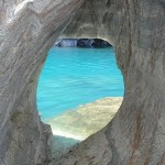 The window to the Marble Cave, Chile