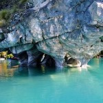The view of Marble Cave in Chile