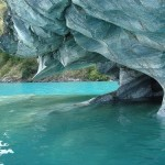Impressive view of Marble Cave in Chile