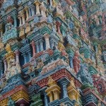Painted in different colors Temple