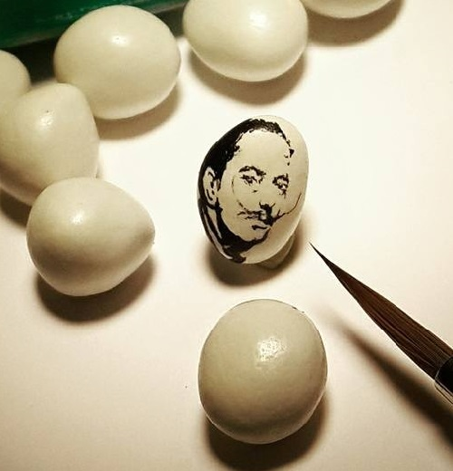 Miniature painting - Salvador Dali