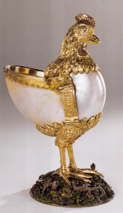 Nautilus cup in the form of a chicken Jamnitzer Wenzel