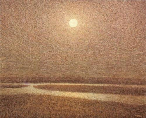 Night in the steppe, 1983. Painting by Ukrainian artist Ivan Marchuk