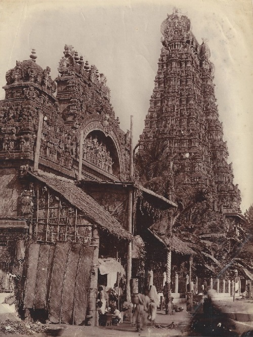 Old photo of Meenakshi Amman Temple