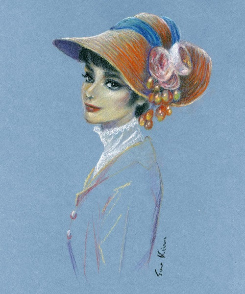 My Fair Lady. Pastel drawing – Audrey Hepburn