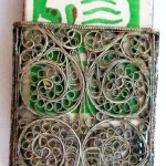 Metal Filigree. Vintage matchbox holder