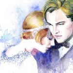 Great Gatsby. Watercolor painting
