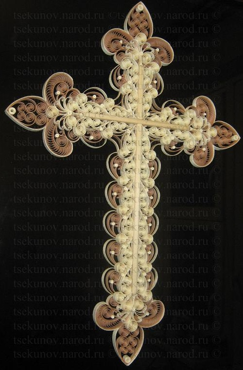 Cross. Tsekunovka filigree art