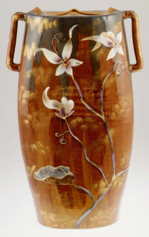 French glass art - Art Nouveau style vase by Emile Galle