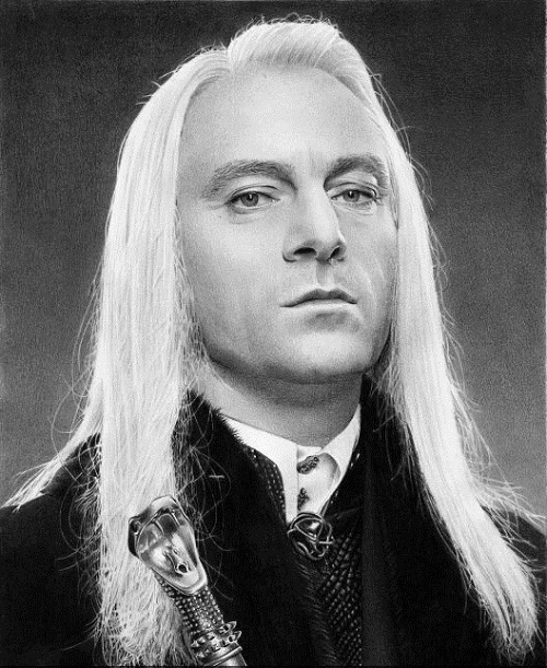Pencil drawing - Jason Isaacs as Lucius Malfoy from the Harry Potter books