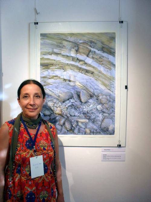 Turkish watercolorist Rukiye Garip, exhibition in Slovenia