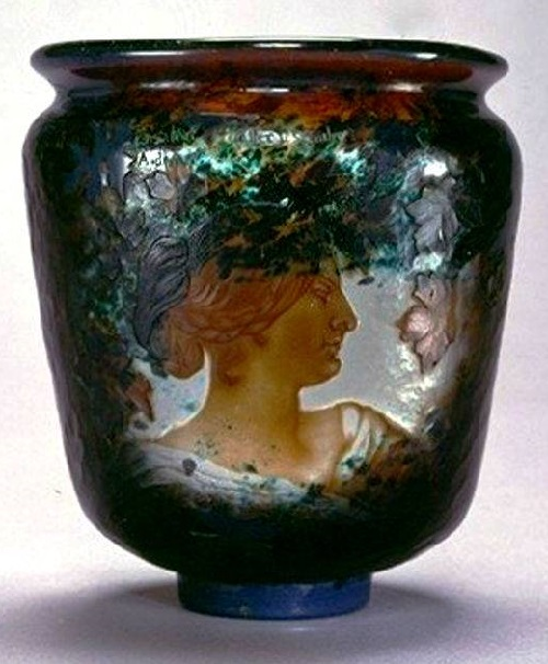 Vase by Art Nouveau Glass maker Emile Galle