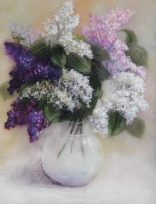 Wool painting Lilac