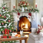 Fire-place. Christmas decoration