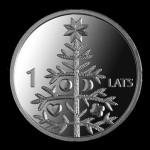 Christmas tree Collectible coin issued by the Bank of Latvia