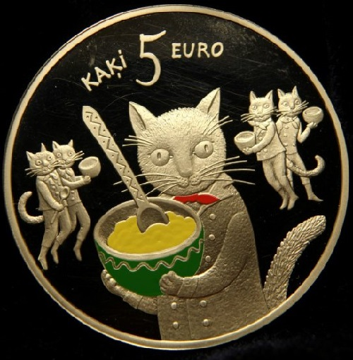 Five cats collectible coins