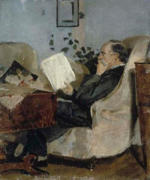 Christian Munch on the Couch, 1881