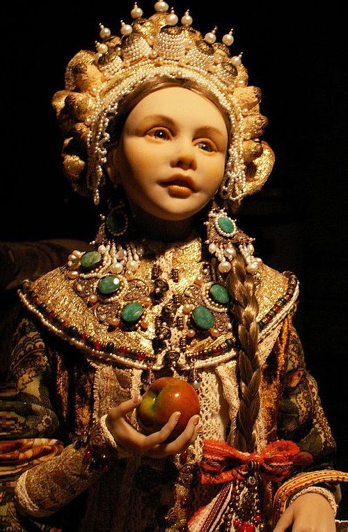 Doll 'Apple' author's work, a single copy. Hand embroidery, Vintage