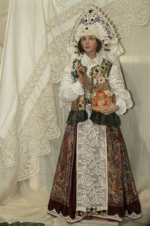 Doll 'Russian Beauty' author's work, a single copy. Hand embroidery, Vintage. Hyper realistic dolls by Alyona Abramova