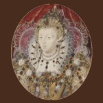 Elizabeth I of England, c.1595-1600, auctioned by Christie's, London, in June 2007, for £276,000 ($560,000). Nicholas Hilliard portrait miniature