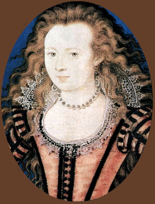Nicholas Hilliard portrait miniature art. Elizabeth, Queen of Bohemia, daughter of James I, 1605–1610