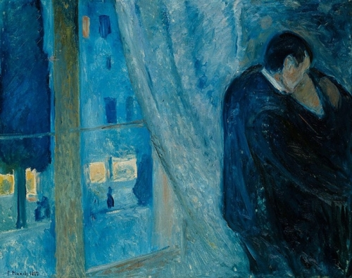 Mysterious Edvard Munch. Kiss at the window, 1892