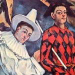 The eternal conflict between two temperaments - Piero (Italian version - Pedrolino) and Harlequin, traditional characters of Italian commedia dell'arte