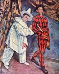 Pierrot and Harlequin by Paul Cezanne