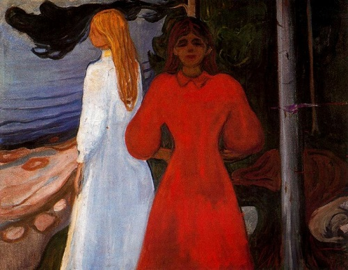 Mysterious Edvard Munch. Red and white, 1899-1900
