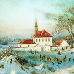White fortress. Russian Winter in painting by Vladimir Zhdanov