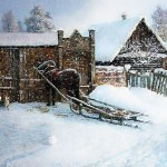 Winter fun. Russian Winter in painting by Vladimir Zhdanov