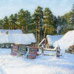 January. Russian Winter. Oil on canvas