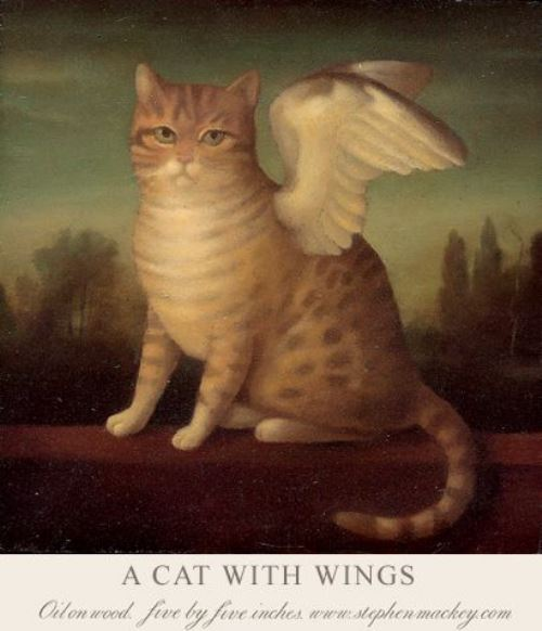 A cat with wings