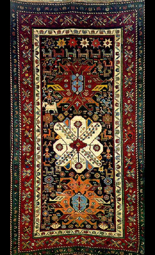 Armenian carpet of the XIX century, the Yerevan school of carpet