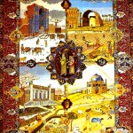 Carpet 'Dord fesil'. Tabriz school. The end of the XIX century. The State Museum of Azerbaijani Carpet and Applied Arts