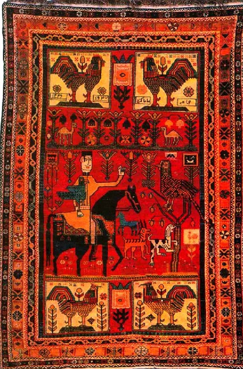 Ovchulug carpet, XIX c. Shirvan school, State Museum of Azerbaijan Carpet and Applied Art. Carpet Making ancient art