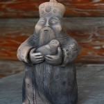 The old man Baikal with a seal. Ocarina by masters Golendeev. Workshop 'Baigol', Irkutsk, Russia