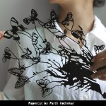 Butterflies. Papercut art by Parth Kothekar