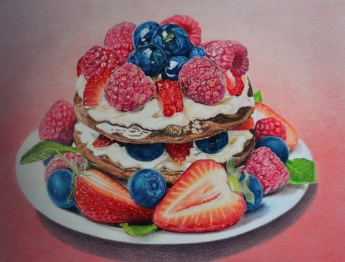 Fruit and berry cake