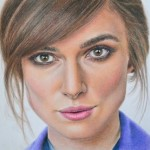 Keira Knightley, pencil drawing by Yekaterina Putyatina
