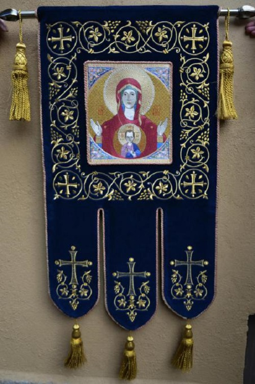 Banner for the Znamensky monastery, Diveevo. 2013