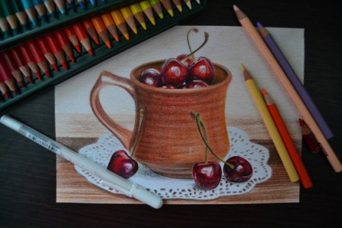 Cherry. Pencil drawing