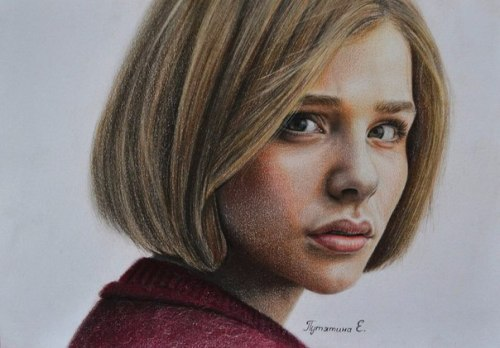 Pencil portrait, drawn on a photo. It took the artist 3 days to draw it