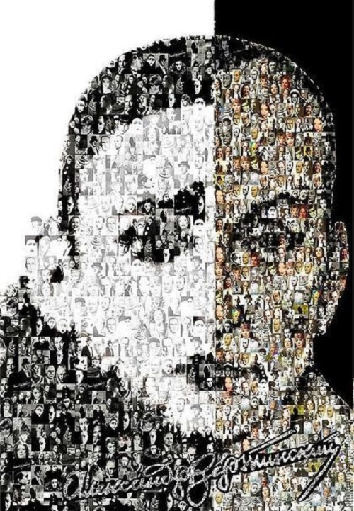 Alexander Vertinsky. Photomosaic 'Genius of sadness'