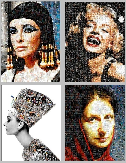 Nikolai Savitsky photo mosaic portraits