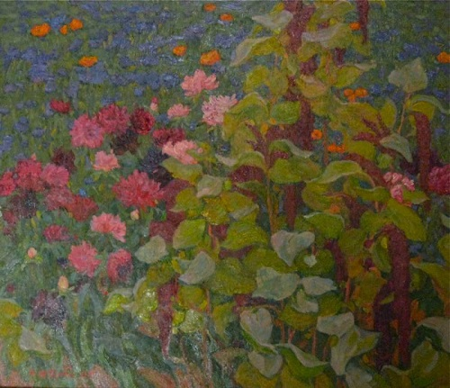 Asters and amaranth oil on canvas, 2009