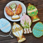 Luxury set of gingerbread Faberge Easter Eggs