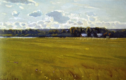 Summer field. Painting by Oleg Shtyhno