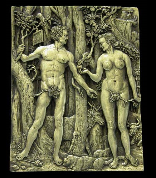 Adam and Eve, inspired by A. Durer. Metal compositions by Art jeweler Andrey Avvakumov
