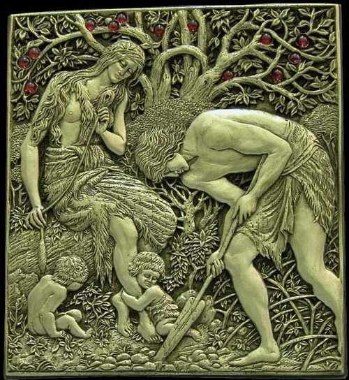 Adam and Eve. Inspired by William Morris. Metal compositions by Art jeweler Andrey Avvakumov